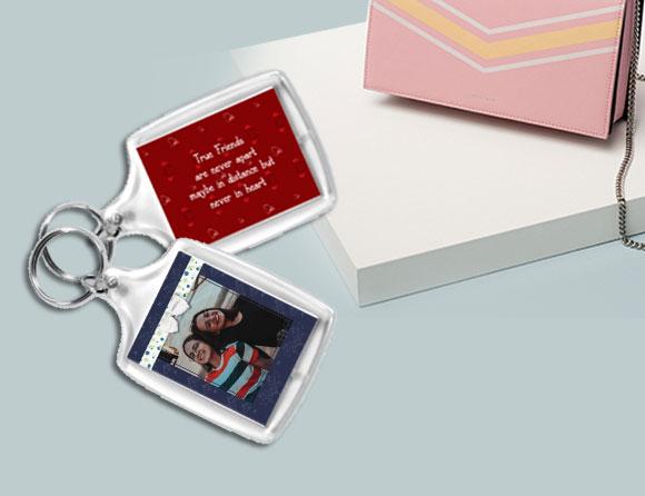 square photo keychain design