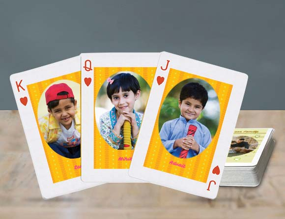 personalize photo playing cards online in India