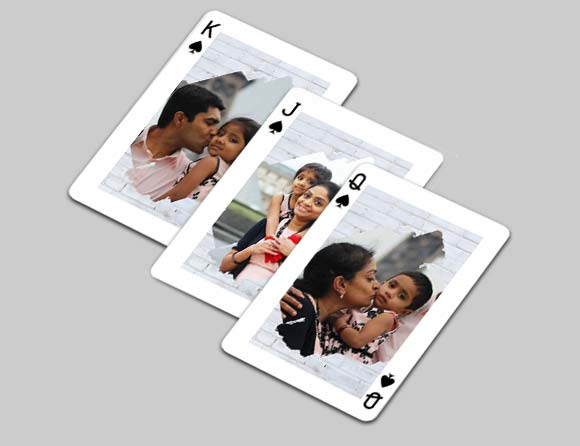 easy set of design photo playing cards