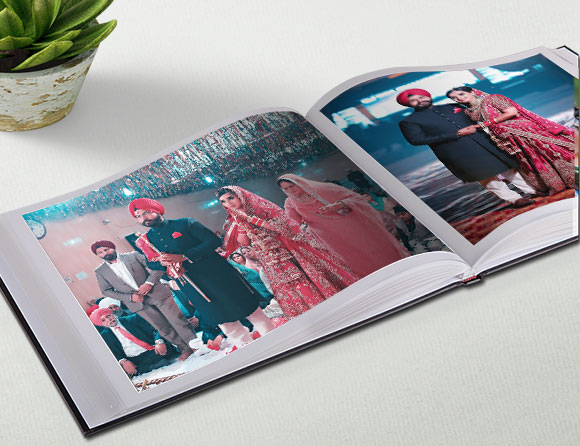 Personalize Leather Photo Book